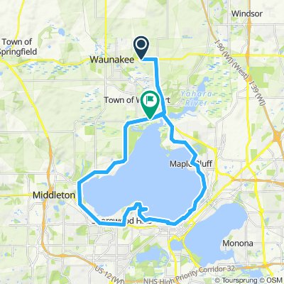 Steady ride in Waunakee