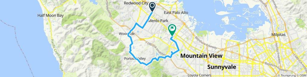 Moderate route in Palo Alto