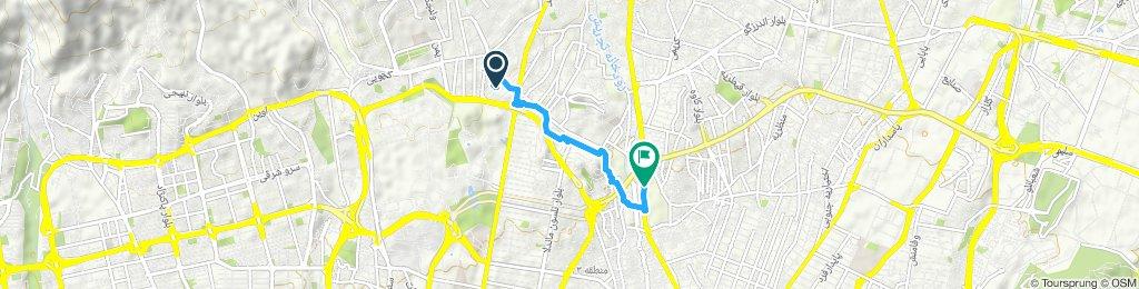 Moderate route in Tehran
