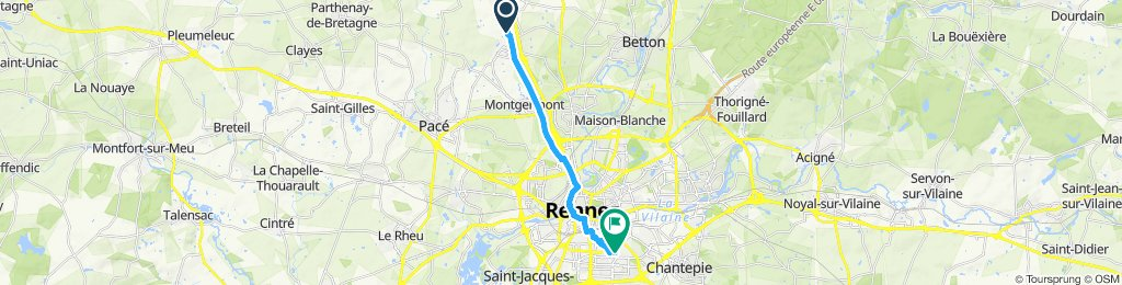 Tout droit à l'intérieur Rennes