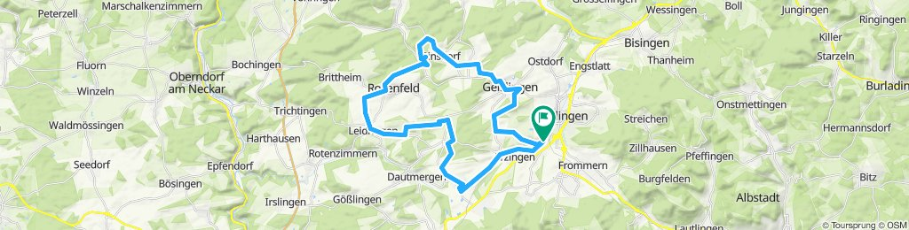 Relaxed route in Balingen