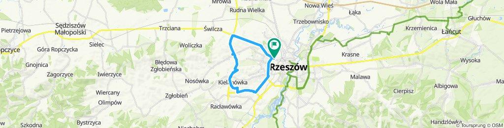 Snail-like route in Rzeszów