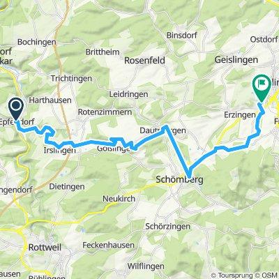 Snail-like route in Balingen