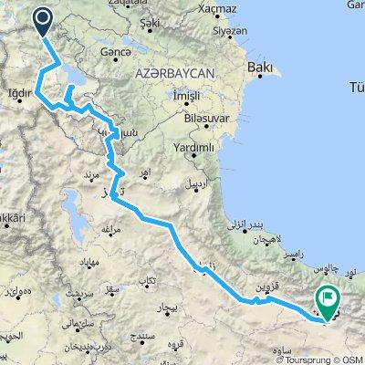 Armenia + Iran tot Teheran