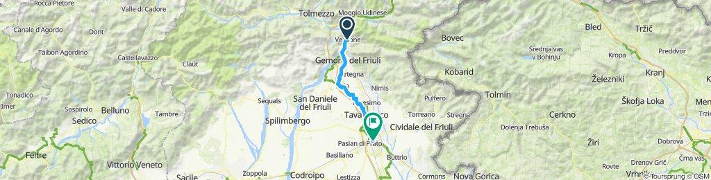 Venzone to Udine