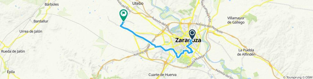 Zaragoza to Garrapinillos (actual)