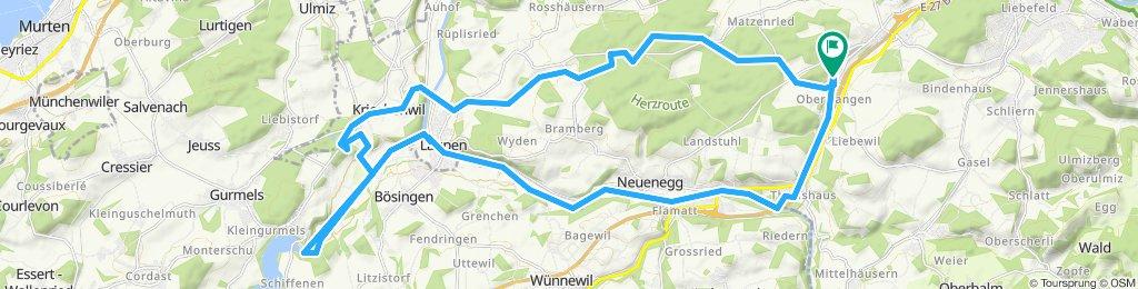Gerade Fahrt in Oberwangen b. Bern