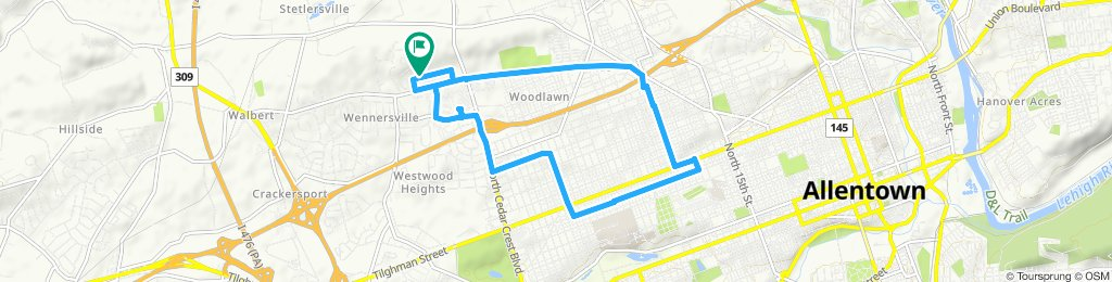 Moderate route in Allentown