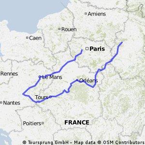 Údolí Loiry na kole CLONED FROM ROUTE 463663