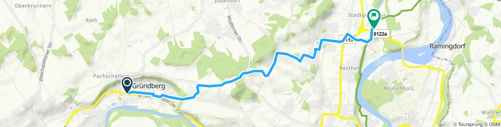 Gemütliche Route in Steyr