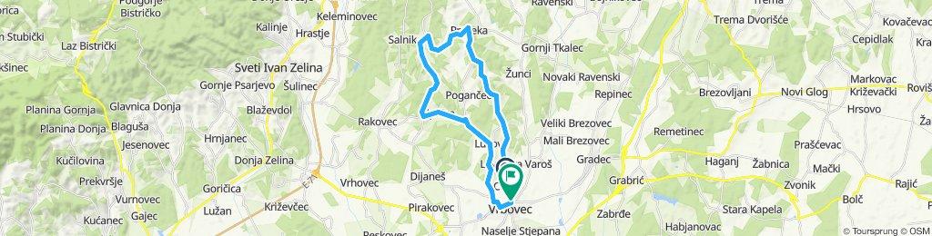Snail-like route in Vrbovec
