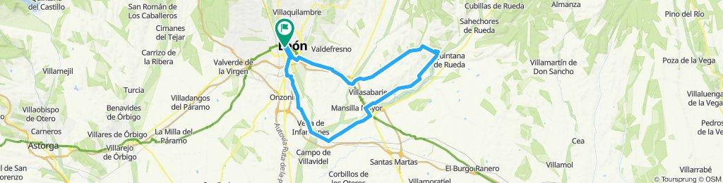 León,pte villarente, Casasola,mirador del Esla,Mansilla, Palanquinos,Vega de Infanzones,Leon