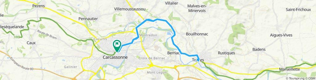 Allez - retour : Carca - Trébes par Canal du Midi