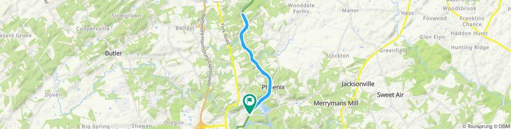 Snail-like route in Cockeysville