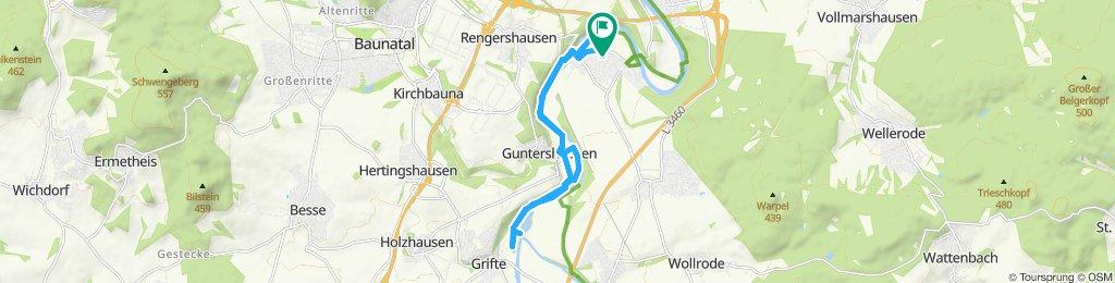 Gemütliche Route in Fuldabrück