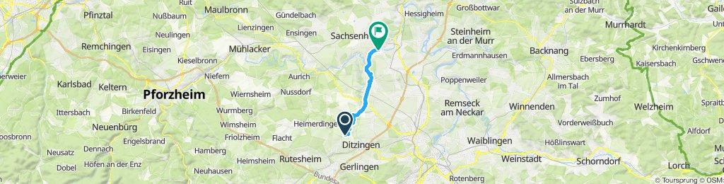 Gemütliche Route in Bietigheim-Bissingen