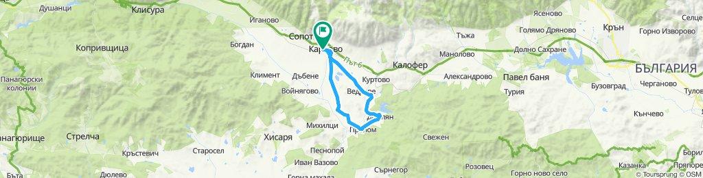 Карлово-Ведраре-Домлян-Пролом-Баня-Карлово