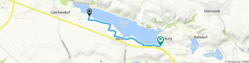 Moderate Route in Seegebiet Mansfelder Land