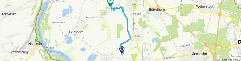 Moderate Route in Groß-Gerau