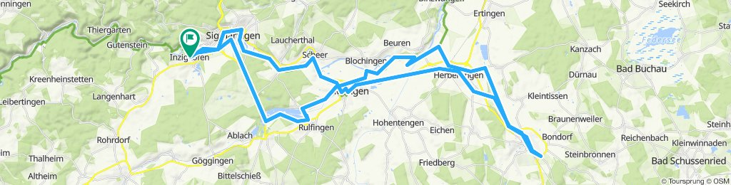 Inzigkofen-Sig-Mengen-B.Saulgau und zurück
