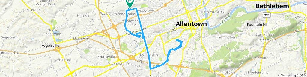 Snail-like route in Allentown