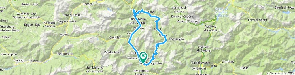 Agordo - Passo Duran - val Zoldana - Colle Santa Lucia.