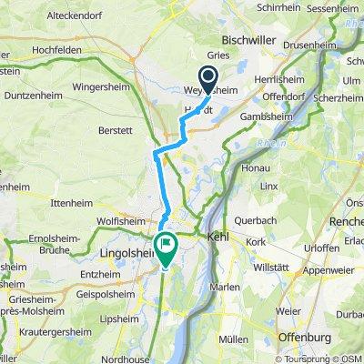 Itinéraire modéré en Illkirch-Graffenstaden