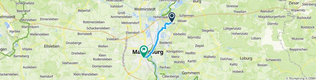 Route im Schneckentempo in Magdeburg