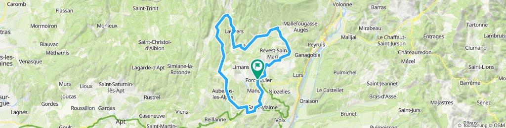 Forcalquier - Lure à vélo Horaire