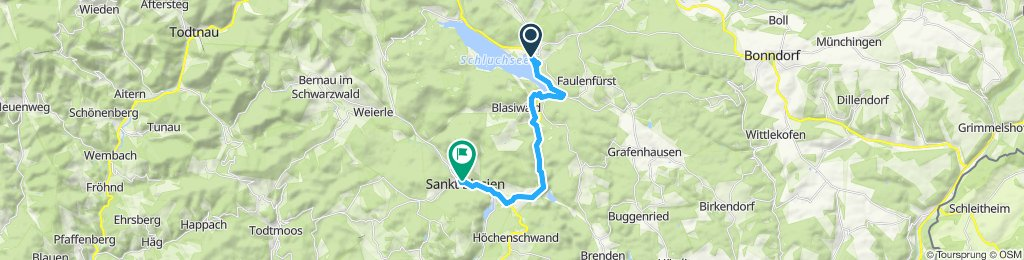 Moderate Route in Sankt Blasien