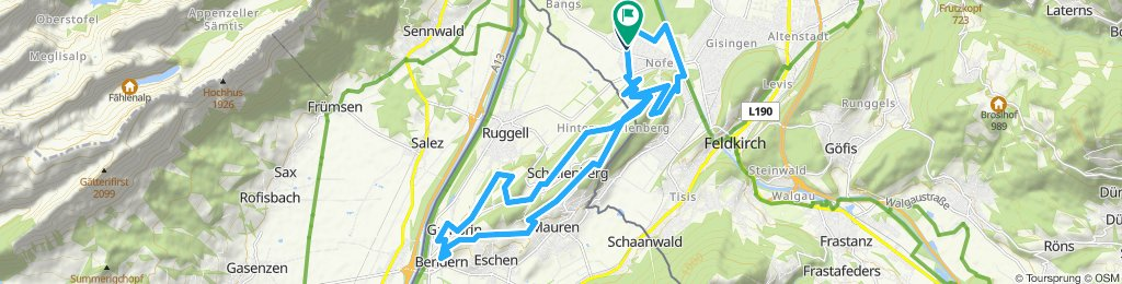Einfache Fahrt in Feldkirch