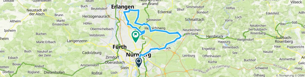 sehr anstrengende Route