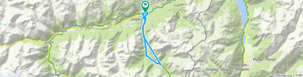Gemütliche Route in Scuol