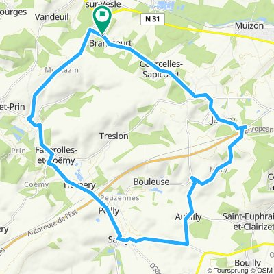 Promenade vélo 30km