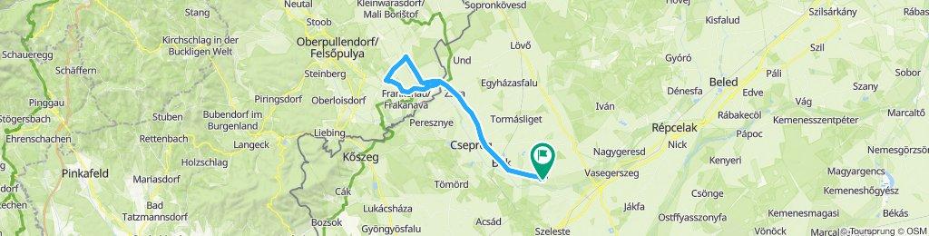 Bő(HUN)-Kroatisch Geresdorf(AUT)-Bő (HUN)