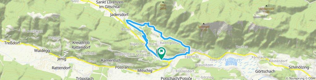 Hermagor Grünburg Radniger Wasserfall Obervellach Hermagor