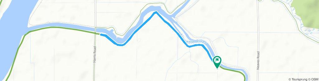 Snail-like route in Pitt Meadows