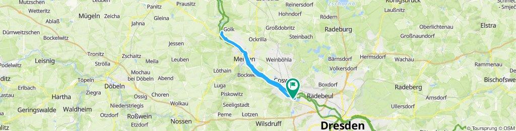 Elberadweg Niederwartha - Kleinzadel