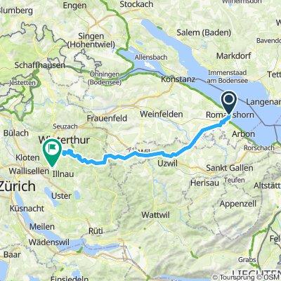 Nationalroute 5 Romanshorn bis Effretikon