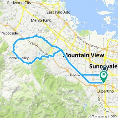 Sunnyvale to Portla Valley