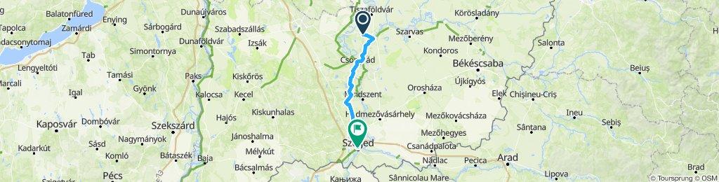 Cserkeszőlő-Szeged 86 km