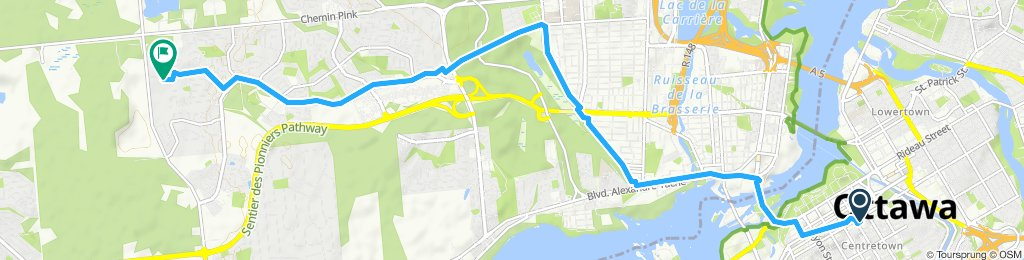 Relaxed route in Gatineau
