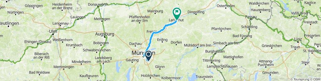 unsere Route Etappe 1