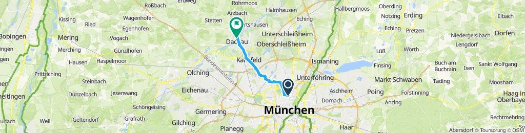 Route im Schneckentempo in Dachau