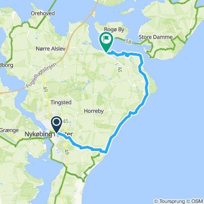 16a. Nykøbing to Stubbekøbing- Coastal route
