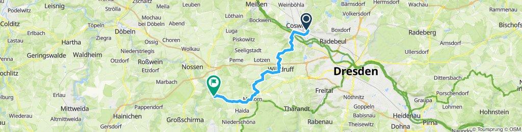 Radebeul nach Reinsberg 22.06