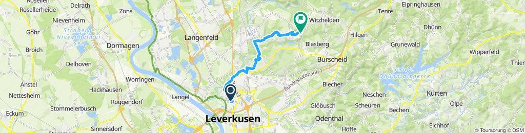 Gerade Fahrt in Leichlingen (Rheinland)