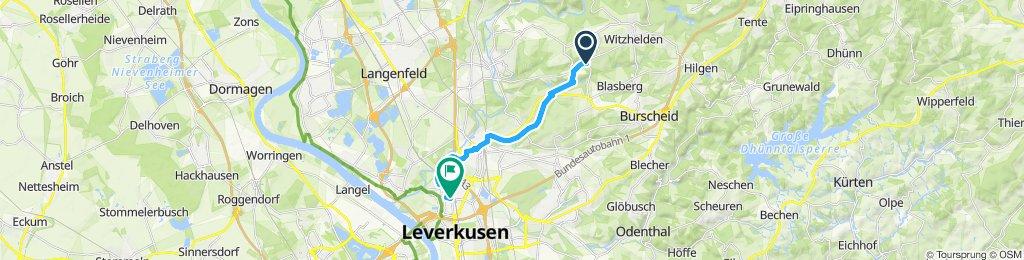 Langsame Fahrt in Leverkusen