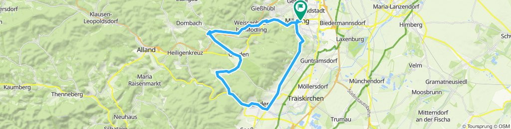 Mödling - Sittendorf - Helental - Mödling