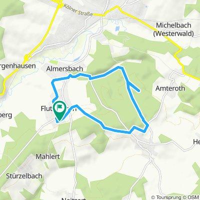 Snail-like route in Fluterschen